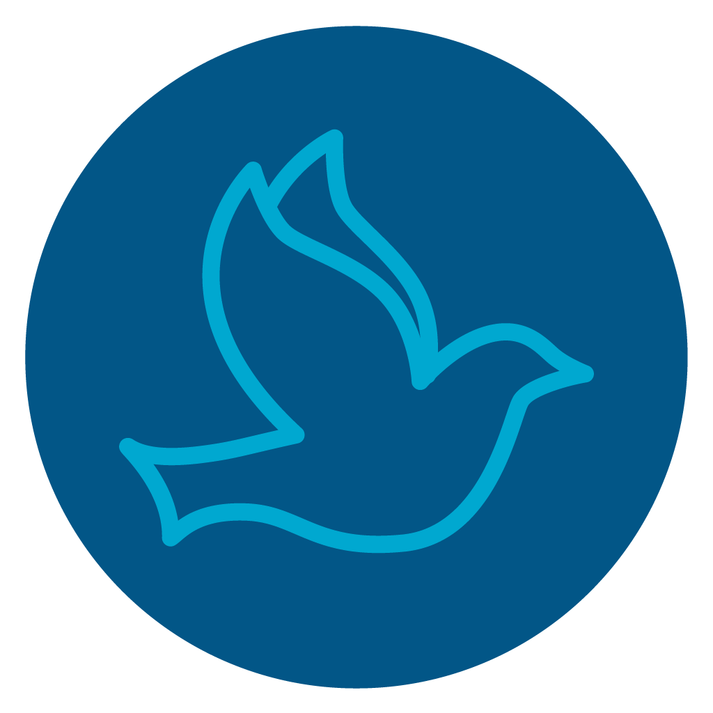 Icon of a dove, symbolizing the holy spirit