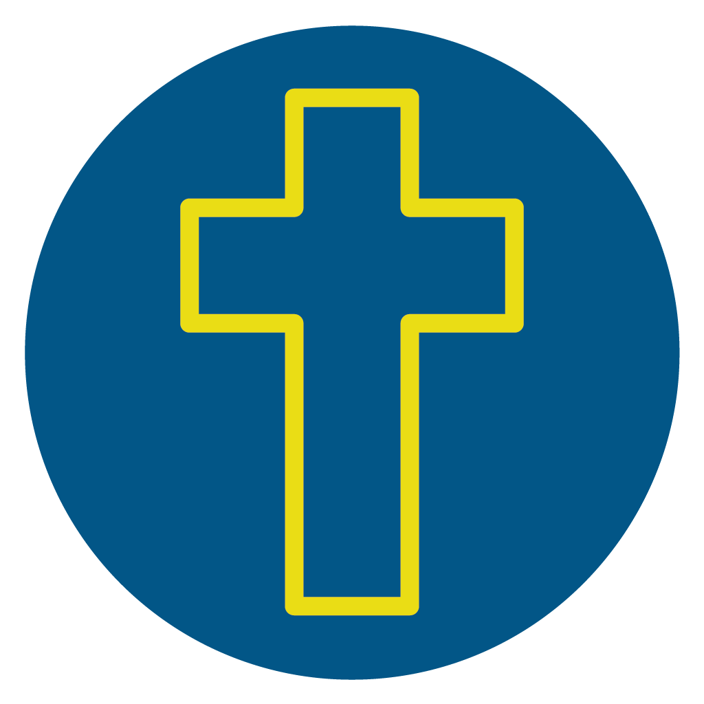 line icon of Christ's cross